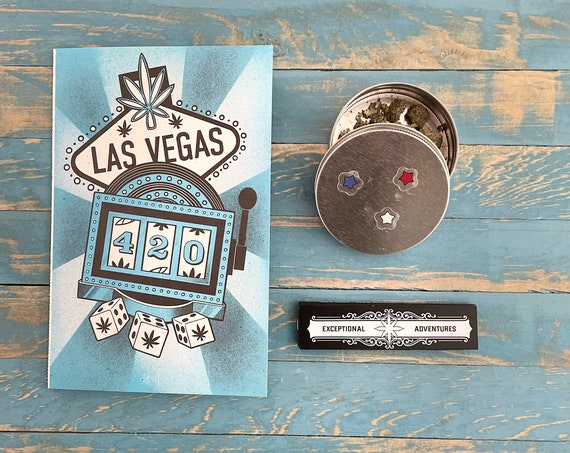 Rolling Card / LAS VEGAS / Rolling Tray / Rolling Papers / Puff Card / Weed Card / Weed Accessory / Stoner Card / Stoner Gift