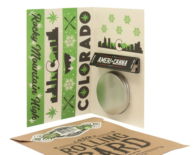Rolling Card / Cannabis Gifting Card / Colorado Card / Rolling Tray / Rolling Papers / Puff Card / Weed Card / Weed Accessory / Stoner Card