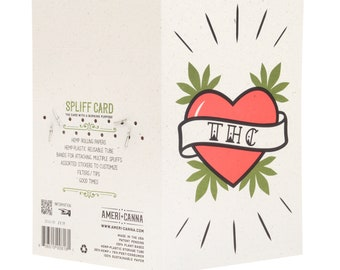 Spliff Card / Cannabis Gifting Card / Hemp Rolling Papers / Puff Card / Weed Card / Weed Accessory / Stoner Card