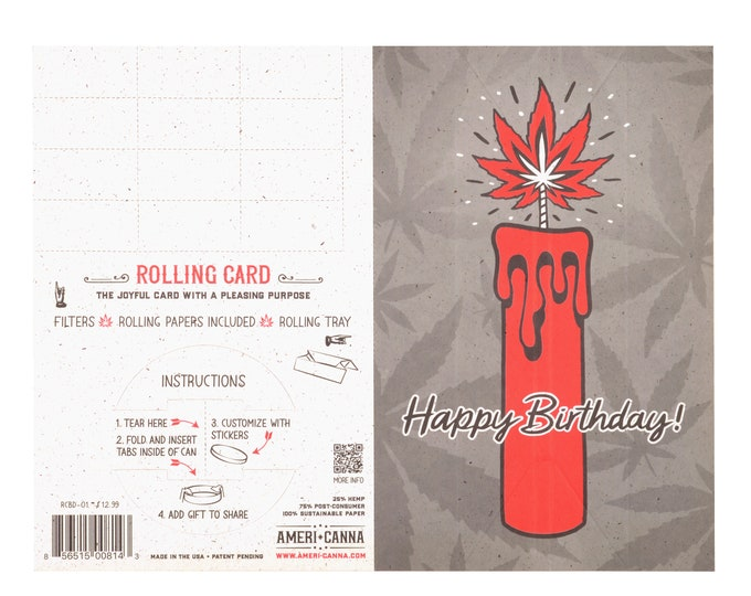 Rolling Card, Cannabis Gifting Card, Birthday, Rolling Tray, Rolling Papers, Storage Container, Ganja, Weed, Hemp