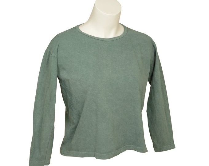 Box Crop - Long Sleeve - Women's - Organic Cotton, 100% U.S.A. Grown, Made in USA
