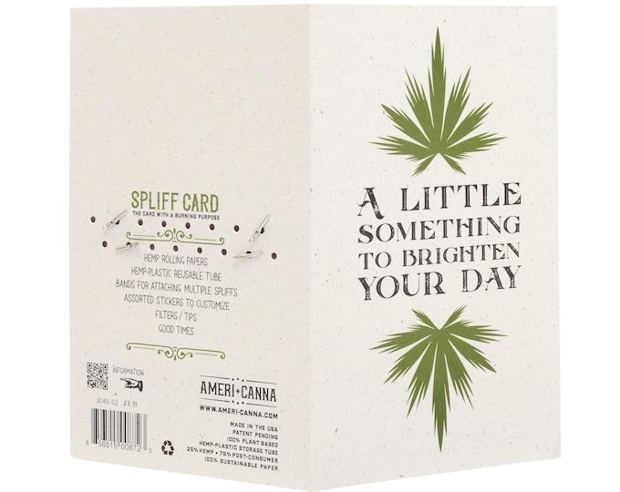 Spliff Card / A Little Something / Cannabis Gifting Card / Rolling Papers / Puff Card / Weed Card / Weed Accessory / Stoner / Ganja