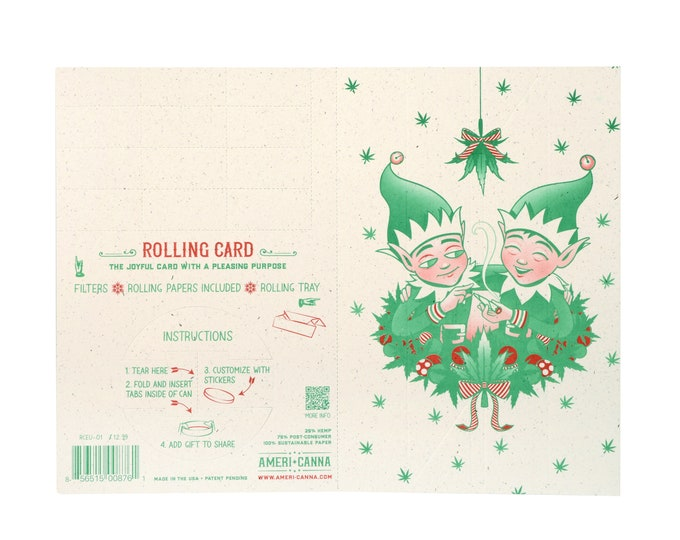 Rolling Card / ELFED-UP / Cannabis Gifting Card / Rolling Tray / Rolling Papers / Puff Card / Weed Card / Weed Accessory / Stoner Card