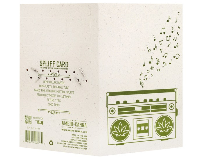 Spliff Card / Tom Petty / Cannabis Gifting Card / Hemp Rolling Papers / Puff Card / Weed Card / Weed Accessory / Stoner Card