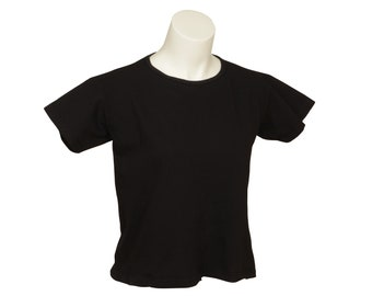 Box Crop - Short Sleeve - Women's - Organic Cotton, 100% U.S.A. Grown, Made in USA