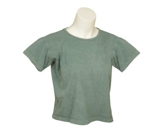Box Crop - Xtra-Wide - Short Sleeve - Women's - Organic Cotton, 100% U.S.A. Grown, Made in USA