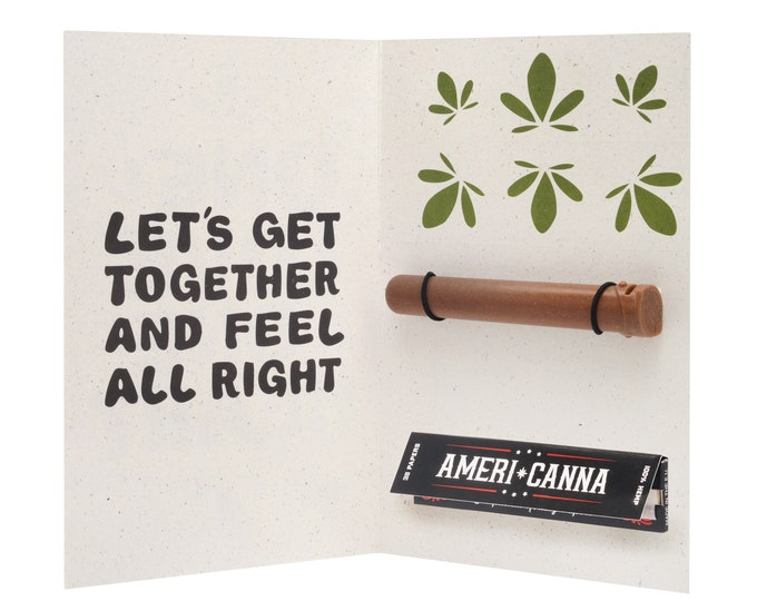 Spliff Card / Bob Marley / Cannabis Gifting Card / Hemp Rolling Papers / Puff Card / Weed Card / Weed Accessory / Stoner Card