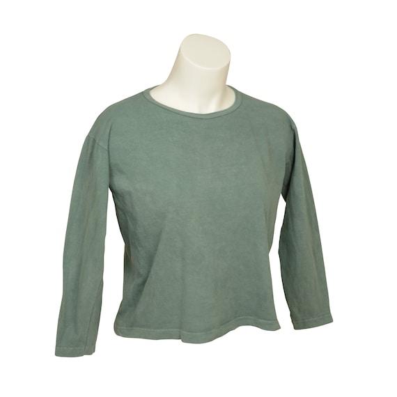 Box Crop - Long Sleeve - Women's - Organic Cotton, 100% U.S.A. Grown, Made in USA