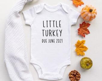 Thanksgiving Onesies\u00ae Thanksgiving Clothes Thanksgiving Bodysuit Holiday Little Turkey Onesies\u00ae Turkey Onesies\u00ae