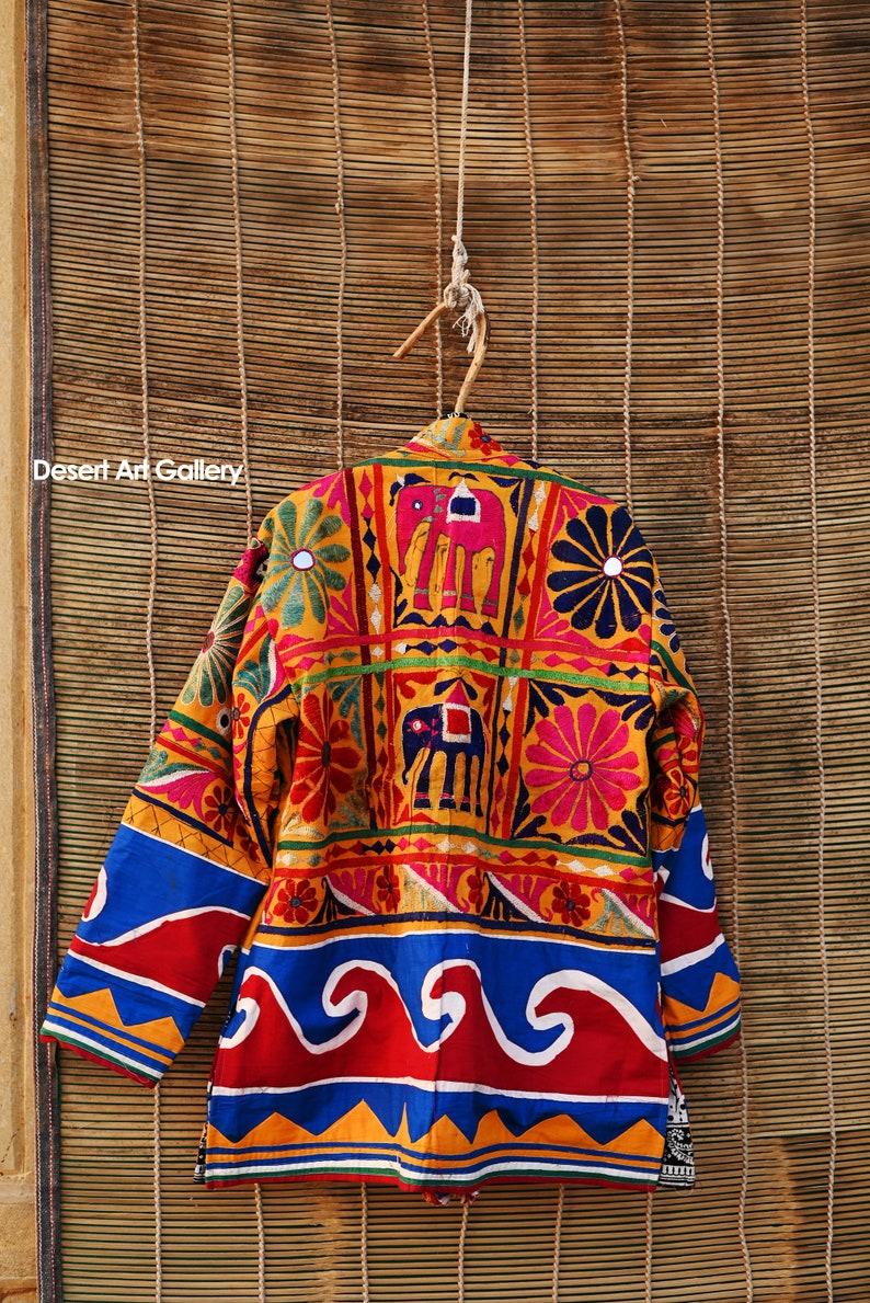Banjara Jacket Boho Jacket Little Baggy Banjara Handmade Embroidery Jacket with Mirror Work Size X- Large UNISEX Festival Jacket