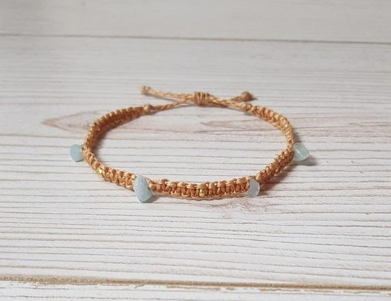LOVE UNCONDITIONALLY Inspirational beaded anklet