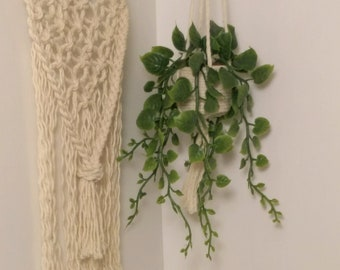 1:6 scale  macrame hanging plant, doll house plant, hanging plant macrame plant hanger, barbie plant