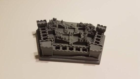 Set of 4 Piece Holder Settlers of Catan Castle Village Theme