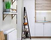 Corner Ladder Shelf 5-Tier Corner Ladder Bookcase, Wooden A-Shaped Display