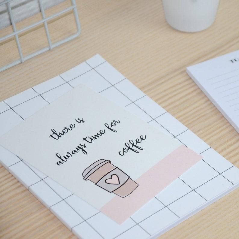 Postcard  A6  Coffee  Quote  Cardboard  Stationery  Postcard  Coffee