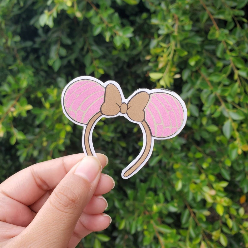 Mickey Minnie Mouse Pan Dulce Concha Ears Decal Sticker Mexican Sweet Bread