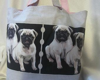 Reusable Cotton Shopping//shoulder//beach Tote Bag Mike Sibley Pug dog breed