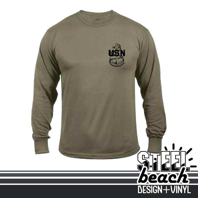 Coyote Brown Military Long Sleeve Shirt Navy Secret Squirrel Intelligence CT IS