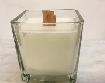 After the Rain Double Wood Wick Soy Candle, Essential Oil Candle, Soy Candle, Home Décor, Wood Wick Candle, Double Wick Candle, Large Candle