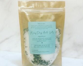 Rainy Days Bath Salt Soak: Bath Salt Blend, Bath Soak, Salt Soak, Epsom Salt Bath, Aromatherapy Gift, Bath Salt Gift, Spa Gift, Relaxation