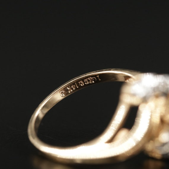 Vintage Amethyst and Diamond Ring - image 8