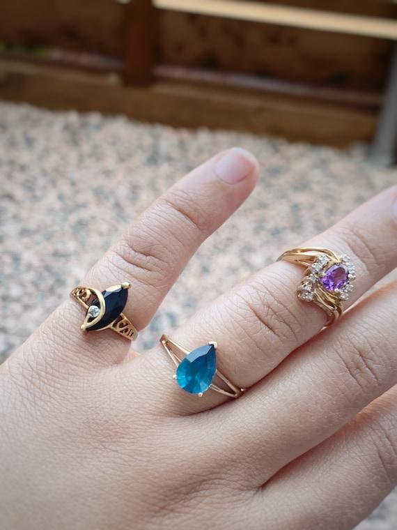 Vintage Amethyst and Diamond Ring - image 9