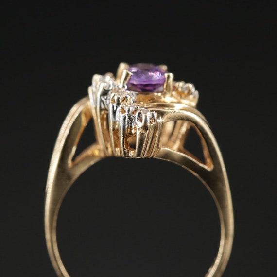 Vintage Amethyst and Diamond Ring - image 4
