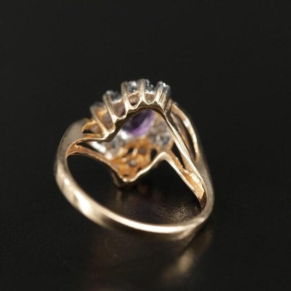 Vintage Amethyst and Diamond Ring - image 6