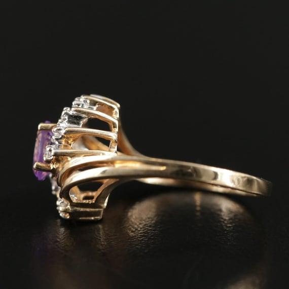 Vintage Amethyst and Diamond Ring - image 7