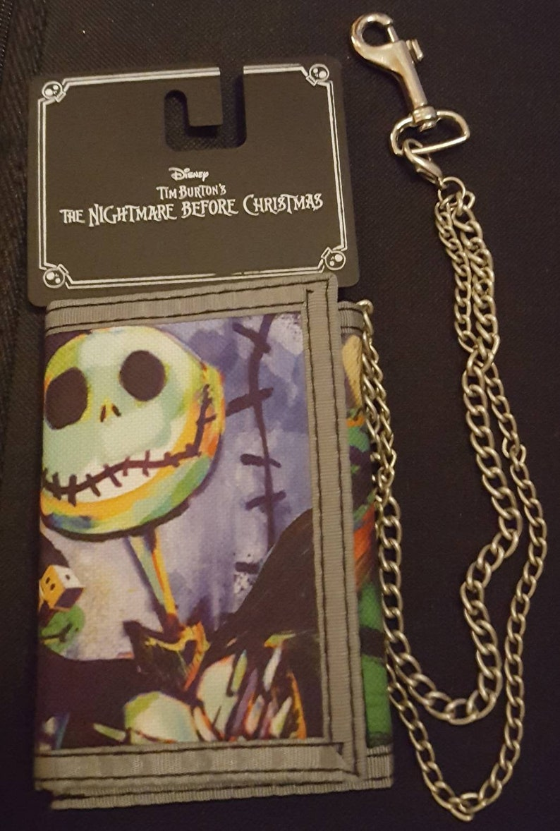 Nightmare Before Christmas Trifold Wallet with Chain Disney