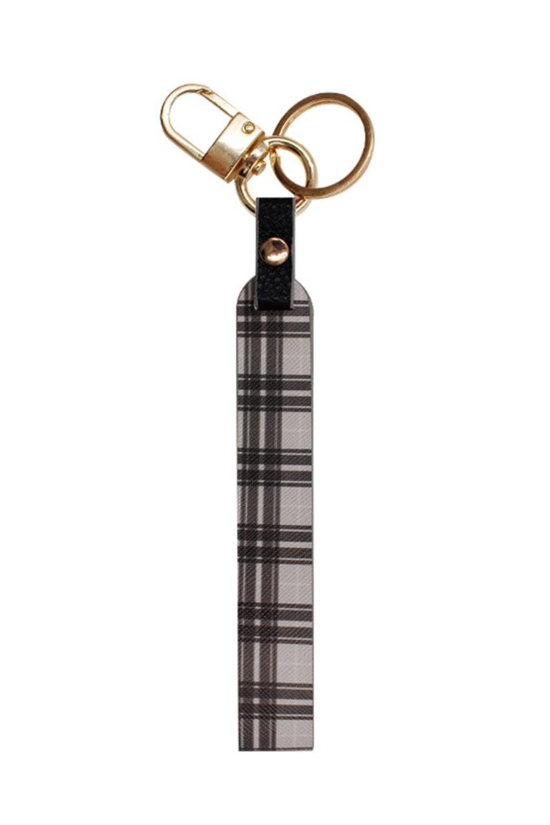Lanyard Keyrings Pattern Wristlet Key Holder Plaid Pattern Print Lanyards Wristlet Keychain Perfect Gifts for Christmas