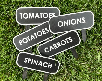 Custom Garden Tags | Garden Markers | Garden Stakes | Plant Markers | Garden Labels | Produce Marker | Summer Garden | Outdoor Gardens