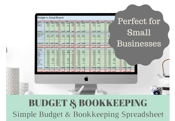 Business Income and Expenses Bookkeeping and Budget Excel Spreadsheet, Perfect for Etsy Sellers Bookkeeping and Budgeting