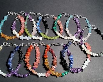 LGBTQIA+ Pride Flag Crystal Gemstone Bracelets