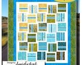 Pattern Fast Lane, Quilt, 10 quot Square Pattern, Modern Quilt., Geometric