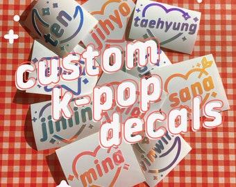 Custom K-Pop Kpop Holo Decal Vinyl Lightstick Sticker