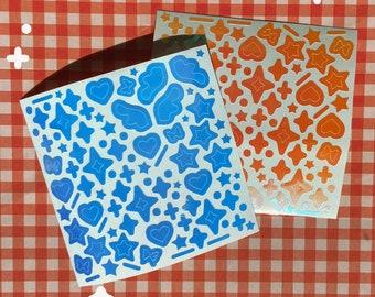 Sparkle Sheet K-Pop Kpop Holo Decal Vinyl Lightstick Stickers