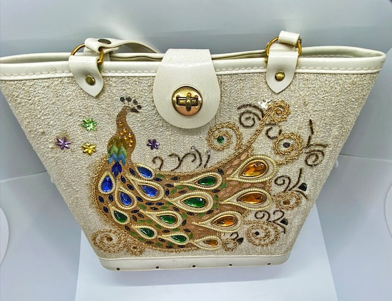 Enid Collins Style Purse, Jeweled Peacock