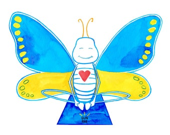 Yoga Art Print Butterfly Pose Badhakonasana Painting