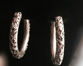 Poggi Paris Earrings  French Modernist Heart Shape Earrings  Vintage Silver Plated Clip Ons  Costume Jewelry  Vintagesouthwest