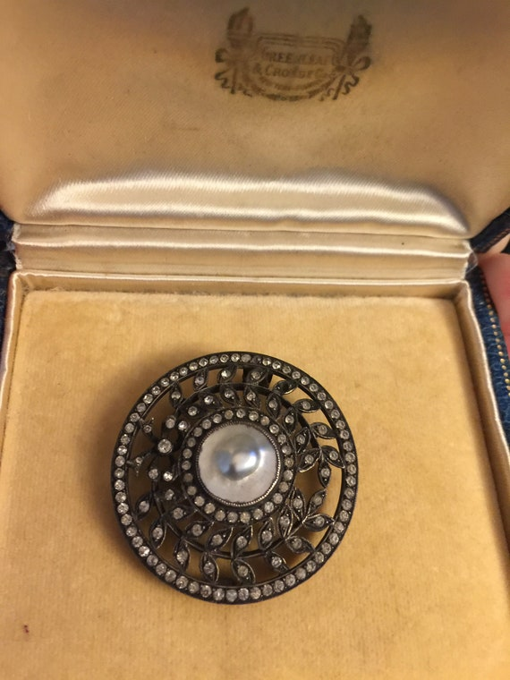 French Paste Pearl Edwardian Brooch