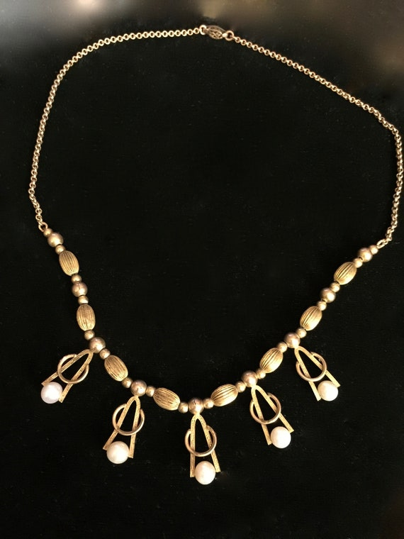 Vintage Gold Fill and Pearl Necklace