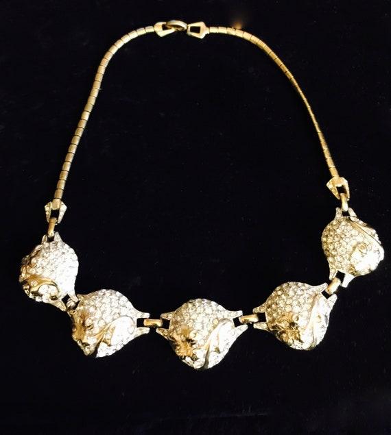 Vintage Reja Rhinestone Necklace