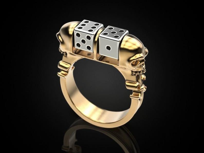 Men/'s Designer Band Ring,Unisex Ring,Gift for him Gift for her,Vintage ring,Silver ring,Ludo lover ring,Bone Dice Ring,Birthday gift ring