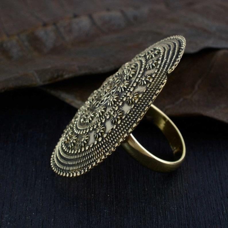 Bohemian Boho Silver Ring Hippie Ring Silver Rings Boho Jewelry Gypsy Ring Long Rings Knuckle rings Mystic Boho Ring Metalwork Ring