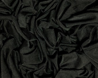 "5 MTR QUALITY CHEAP BLACK LACE NET SLIGHT STRETCH FABRIC...60/"" WIDE £12.49"