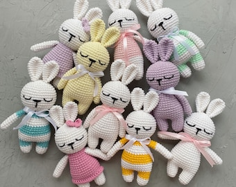 Soft bunny Halloween Bunny amigurumi Stuffed bunny Amigurumi crochet  bunny toys Crochet bunny toy with a small bow on the neck