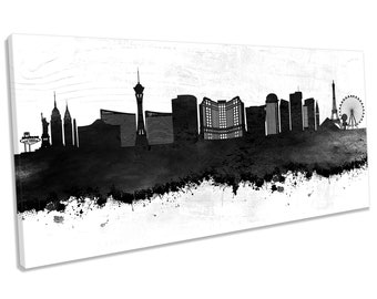 Las Vegas Nevada Abstract Grunge City SINGLE CANVAS WALL ART Picture Print