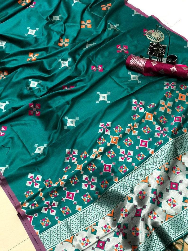 saree dress sari Lichi silk weaving jequard saree with blouse for women indian dress wedding saree saris indian saree