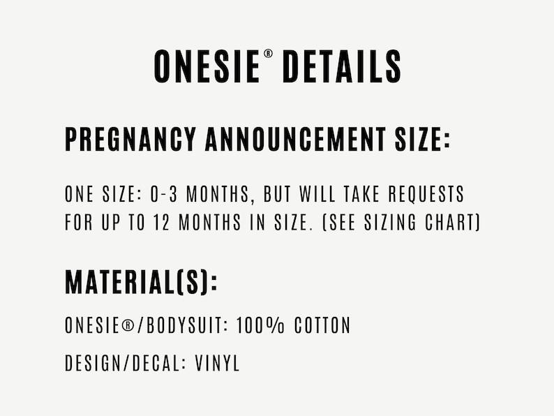 Custom Pregnancy Announcement Personalized Pregnancy Announcement Onesie\u00ae Baby Announcement